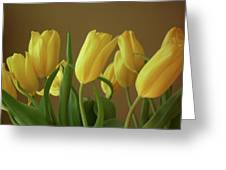Yellow My Favorite Tulips Greeting Card