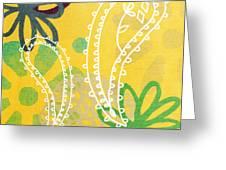 Yellow Paisley Garden Greeting Card