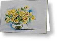 Yellow Pansies Greeting Card