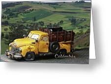 Yellow Pick-up Truck Greeting Card