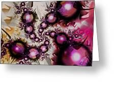 Yellow Pink Spiral Art Greeting Card