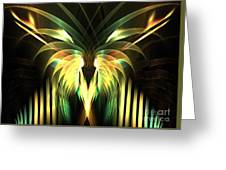 Yellow Plumes Greeting Card