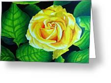 Yellow Greeting Card by Ramneek Narang