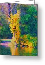 Yellow Reflections Greeting Card