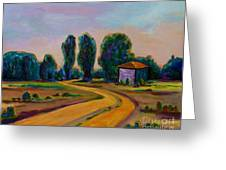 Yellow Road Greeting Card