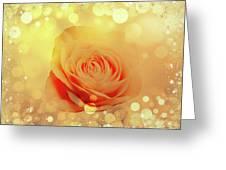 Yellow Rose And Joy Greeting Card