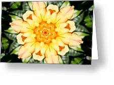 Yellow Rose Kaleidoscope  Greeting Card