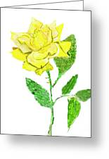 Yellow Rose, Painting Greeting Card