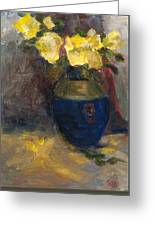 Yellow Roses Greeting Card by Rita Bentley