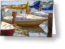 Yellow Sails Greeting Card