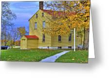 Yellow Shaker House 2 Greeting Card