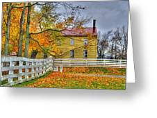Yellow Shaker House 4 Greeting Card