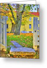 Yellow Shaker House Gate Greeting Card