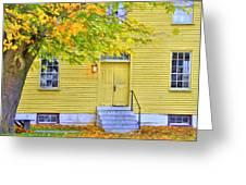 Yellow Shaker House Greeting Card