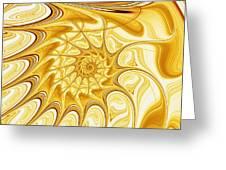 Yellow Shell Greeting Card