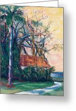 Yellow Sky At Edison Winter Estate Greeting Card