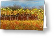 Yellow Stand Of Trees Greeting Card