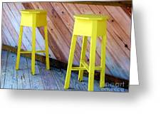 Yellow Stools Greeting Card