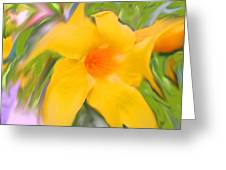 Yellow Stretch Greeting Card
