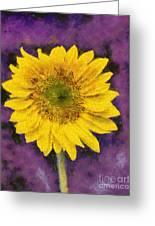 Yellow Sunflower Greeting Card