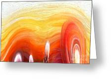 Yellow Sunlight Abstract Art Greeting Card