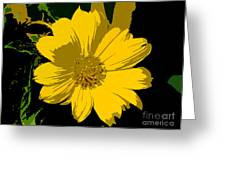 Yellow Sunshine Work Number 8 Greeting Card
