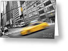 Yellow Taxi Nyc Greeting Card