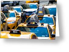Yellow Taxis Greeting Card