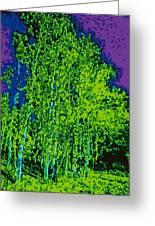 Yellow Trees Dd5b Greeting Card