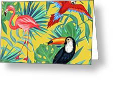 Yellow Tropic  Greeting Card