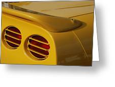 Yellow Vette Lights Greeting Card