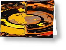 Yellow Vortex Greeting Card