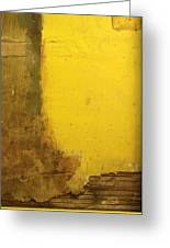 Yellow Wall Greeting Card