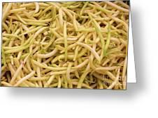 Yellow Wax Beans Greeting Card