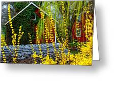 Yellow Weeds Greeting Card