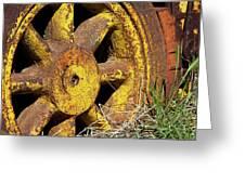 Yellow Wheel Greeting Card