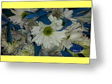 Yellow, White And Blue Greeting Card