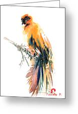 Yellow Wild Bird Greeting Card