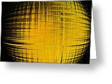Yellow Word  Greeting Card