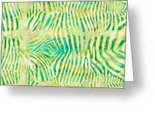 Yellow Zebra Print Greeting Card