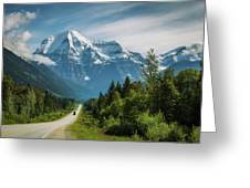 Yellowhead Highway In Mt. Robson Provincial Park, Canada Greeting Card