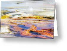 Yellowstone Abstract II Greeting Card