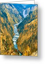 Yellowstone Canyon Greeting Card