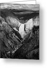 Yellowstone Falls II Greeting Card