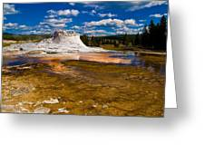 Yellowstone Geyser Greeting Card