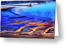 Yellowstone Grand Prismatic Spring Geothermal Water Greeting Card