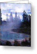 Yellowstone Haze Greeting Card