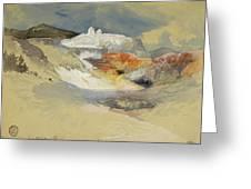 Yellowstone, Hot Springs, July 21, 1892 Greeting Card