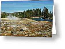 Yellowstone Hot Springs Greeting Card