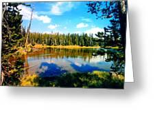 Yellowstone Lake In Summer Greeting Card